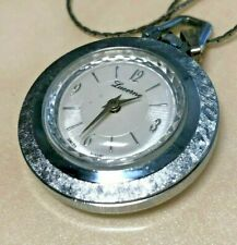 Vintage Lucerne Swiss Silver Hand-Winding Necklace Pendant Pocket Watch Hours