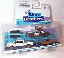 Blues Brothers Dodge Monaco with Ram and trailer 1-64 Scale new blister ltd ed