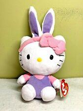 Ty Hello Kitty Easter Beanie Babies Plush Purple Bunny Ears & Shirt 2013 NWT