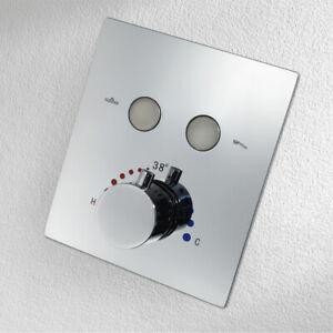 Chrome Thermostatic Dual Functions Bath Faucet Temperature Control Shower Mixer