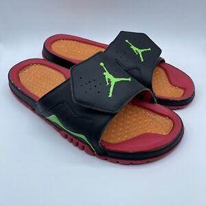Nike Mens Air Jordan Hydro 7 VII (705467-016) Slides Orange Red Black Size 12