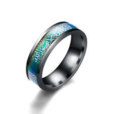1PC New Band Titanium Steel Moslemism Jewelry Muslim Men Ring Temperature Change