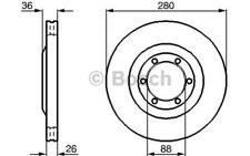 BOSCH Juego de 2 discos freno 280mm ventilado OPEL FRONTERA 0 986 478 437