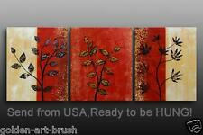 Abstract Floral Oil Painting on Canvas Framed - Hung as group or sep