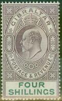 Gibraltar 1903 4s Dull Violet & Vert SG53 Fin MTD Excellent État (2)