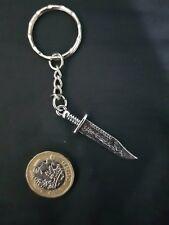 Combat Weapon KNIFE DAGGER KEY CHAIN KEY RING TIBETAN SILVER ORIENTAL STYLE 2