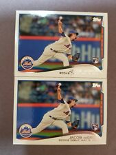 NICE 2 LOT! 2014 TOPPS UPDATE JACOB DEGROM RC DEBUT ROOKIE ☆ METS ACE ☆ #US-57