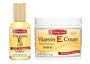 De la Cruz® Vitamin E Oil 15,000 IU 2.2 FL OZ + Vitamin E Cream 10,000 IU 4 OZ