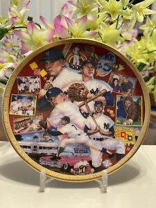 MICKEY MANTLE SPORTS IMPRESSIONS MICKEY IN THE 50'S MINI PLATE NEW YORK YANKEES!