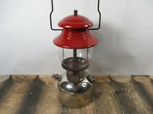 COLEMAN LANTERN 200 CHROME & RED  DATED 8 - 58 NO RESERVE