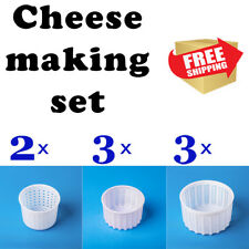 Camembert Cheese Mold Cow Goat Rennet Milk for cheesemaking Home cheese set 8 pc