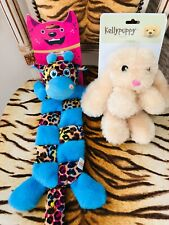 NEW LEOPARD ANIMAL PRINT  DRAGON  & KELLY PUPPY DOG SOFT  PLAY TOYS