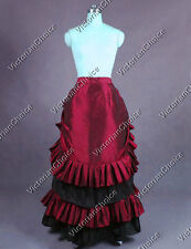 Victorian Steampunk Vampire Pleated Bustle Walking Skirt Halloween N K034 XL