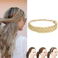 Damen geflochtene synthetische Zopf geflochtene elastische Haarband Stirnband