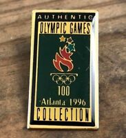1996 100 Olympic Torch Games ATLANTA Collection Authentic Enamel Lapel Pin