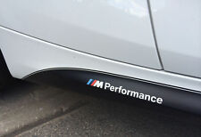 2x BMW M Performance side skirt White decal sticker logo F20 F30 E60 F10 E90 E46