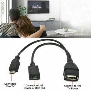 Cable Adapter USB OTG for Amazon Fire TV stick Firestick 4K ADD Keyboard USB/ UK