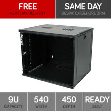 "Linxcom 9U 19"" Network Wall Cabinet Data Comms Rack 540x450mm Black"