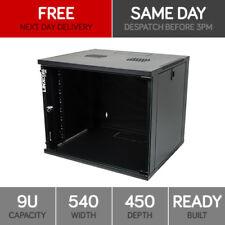 "Linxcom 9U 19"" Network Wall Cabinet Data Comms Rack 540x450mm Black"