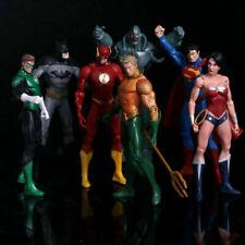 7 Pcs/set Justice League Superman Batman The Flash Aquaman Action Figure Toy