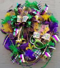 New Mardi Gras celebration Wreath Jester Wreath Bead Wreath Med Wreath !