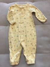 Baby Gap Girl Romper Coverall Yellow Cat In A Hat Size 3-6 Month