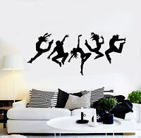 Vinyl Wall Decal Dance Studio Silhouette Dancing People Stickers Mural (ig4988)