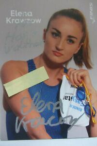 Altes Originalautogramm     ELENA KRANZOW