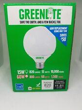Greenlite Globe Light Self Ballasted 15W E26 120V Fluorescent Light Bulb (1/Pk)
