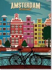 "Retro AMSTERDAM NETHERLANDS Travel Poster Photo Fridge Magnet Size 2""x 3"" New"