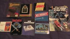 Lot Nintendo NES Instruction Manuals Booklets Boxes Final Fantasy Jaws Cleaning