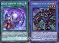Yugioh Paladin of Dark Dragon (Secret Rare) + Dark Dragon Ritual - Set Lot
