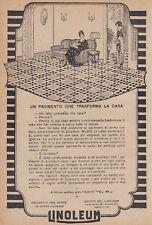 Z5236 Linoleum - Un pavimento che trasforma la casa - Pubblicità - 1927 old ad