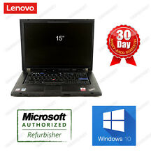 "Lenovo Thinkpad T500 Laptop C2D 2.5GHz 4G 160G DVDRW Win10 HOME 64bit 15"" Webcam"
