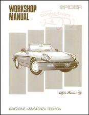 Alfa Romeo Spider Shop Manual Service Repair 1991 1992 1993 1994 Workshop Book (Fits: Alfa Romeo)