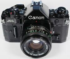 Canon A-1 35mm Film SLR Camera Body + 50mm f/1.8 FD Prime Lens