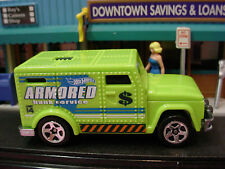 2014 POLICE PURSUIT Exclusive ARMORED TRUCK☆Sublime Green;Bank$☆LOOSE☆Hot Wheels
