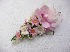 Wedding Flower buttonhole Pink orchid & daisy..... PIN ON
