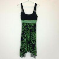 Pagani Womens Black/Green Sleeveless Dress with Back Tie Size 10