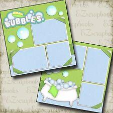 BUBBLES - 2 Premade Scrapbook Pages - EZ Layout 986