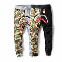 BAPE A Bathing Ape Shark Head Camo Sweatpants Men Casual Jogging Long Pants New