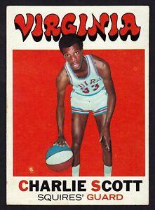 VINTAGE - 1971-72 - TOPPS - CHARLIE SCOTT - VIRGINIA SQUIRES - #190 - ROOKIE RC