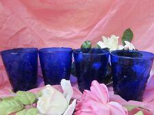 Cobalt Blue 12 oz.water,tea or whiskey tumblers (4) GA-A-17
