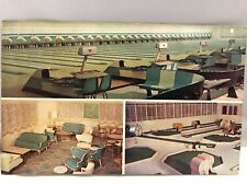 1950s PARKMOOR Bowling Alley Cocktail Lounge Louisville Kentucky Postcard