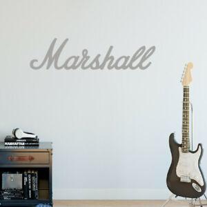 Marshall Amp Matt Silver 580mm Vinyl Sticker, Guitar Amplifier Music Logo