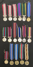 More details for large job lot collection of genuine british military & un miniature medals x17