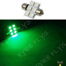 1 Green 31mm 6SMD festoon dome map interior LED light lamp DE3175 3022 3021 1xD1