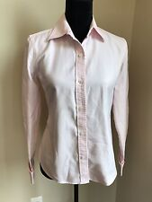 BANANA REPUBLIC - Pink TEXTURED French Cuff COTTON button down shirt sz S