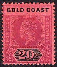 Gold Coast 1913-21 WMK MCA GV 20/- SG84 VF MLH FULL OG
