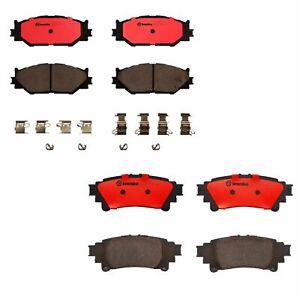 Brembo Front Rear Ceramic Brake Pads Kit For Lexus IS250 Base F Sport 2014-2015